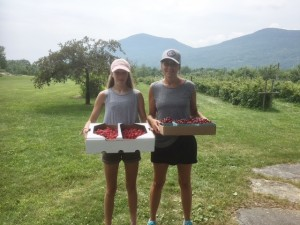 Julie and daughter with berries and cherries - Copy